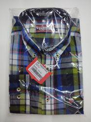 Ref: 7003 - Camisa Country Verde/Azul/Preto - Os Vaqueiros