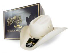 Ref: 6000 - Chapéu Country Dallas Branco/Gelo Banda Ouro