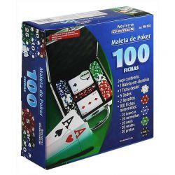 Ref: PK150 - Jogo de Poker Maleta de Alumínio 100 fichas.