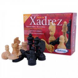 Ref: 6012 - Peças de Xadrez em Madeira Xalingo