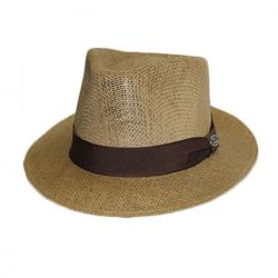 Ref: 13001 - Chapéu Dallas Juta Aba 6 cm Castanho