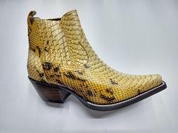 Ref: 82038 - Bota Country Black Horse Snake Amarelo