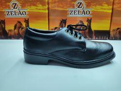 Ref: 121 - Sapato Zelão Cadarço Preto