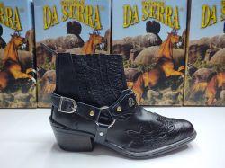 Ref: 727 - Bota Country Da Serra Preto/Croco