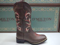 Ref: 1740018 - Bota Country Texana Feminina D'Milton Terra