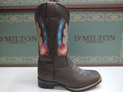 Ref: 1740036 - Bota Country Texana Feminina D'Milton Café