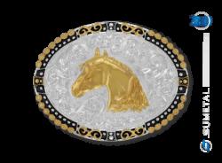 Ref: 11406 - Fivela Country Sumetal Cabeça de Cavalo