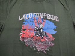 Ref: EST1 - Camiseta Country Life Western Laço Comprido Verde